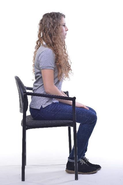 座った状態の姿勢