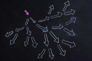 分裂する矢印