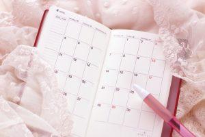 ピンク色のスケジュール帳
