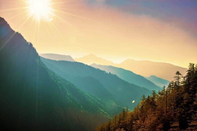 美しい山々