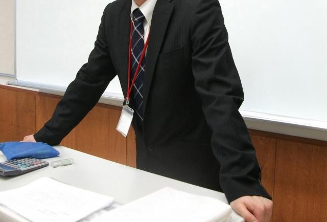 教壇に立つ先生