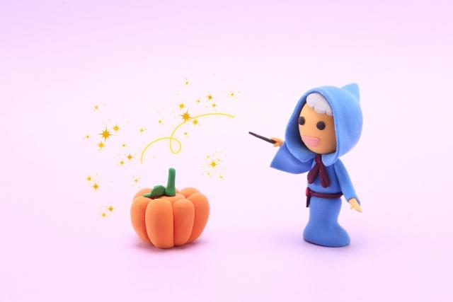 かぼちゃに魔法をかける