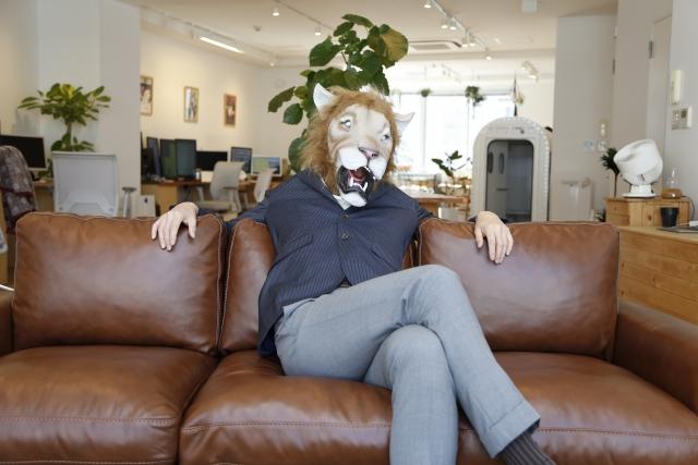 楽観的な態度のライオンくん