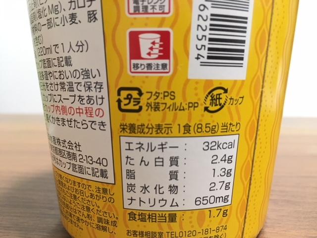 生姜たまごの栄養成分表示