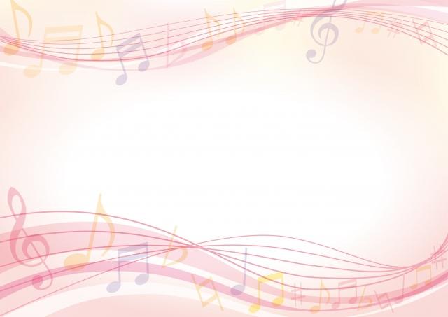 声をイメージしたピンク色の音符