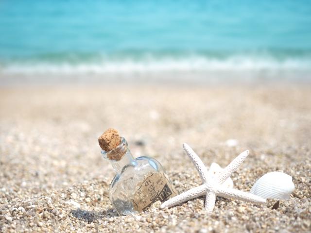夏休みの砂浜